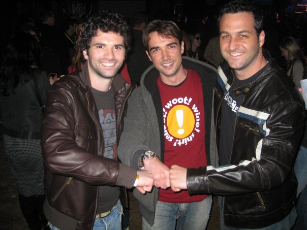 Me with Dan Trachtenberg & Jeff Cannata from the Totally Rad Show while at Woot! after a 2009 SXSW episode of Diggnation